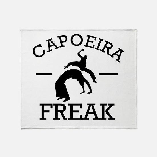 Capoeira Freak Throw Blanket