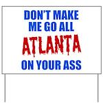 Atlanta Baseball Yard Sign