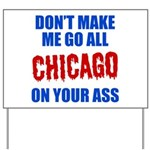 Chicago Baseball Yard Sign