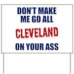 Cleveland Baseball Yard Sign