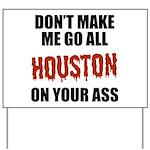 Houston Baseball Yard Sign