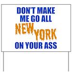 New York Baseball Yard Sign