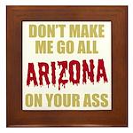 Arizona Baseball Framed Tile