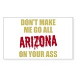 Arizona Baseball Sticker (Rectangle)