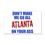 Atlanta Baseball Car Magnet 20 x 12