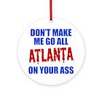 Atlanta Baseball Ornament (Round)