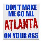 Atlanta Baseball Tile Coaster