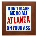 Atlanta Baseball Framed Tile