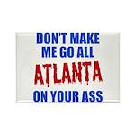Atlanta Baseball Rectangle Magnet
