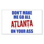 Atlanta Baseball Sticker (Rectangle)