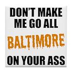 Baltimore Baseball Tile Coaster