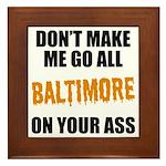 Baltimore Baseball Framed Tile