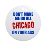 Chicago Baseball Ornament (Round)