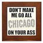 Chicago Baseball Framed Tile
