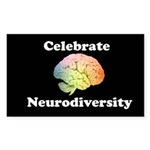 Celebrate Neurodiversity Sticker (Rectangle)