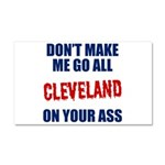 Cleveland Baseball Car Magnet 20 x 12