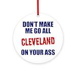 Cleveland Baseball Ornament (Round)
