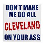 Cleveland Baseball Tile Coaster