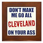 Cleveland Baseball Framed Tile
