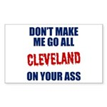 Cleveland Baseball Sticker (Rectangle)