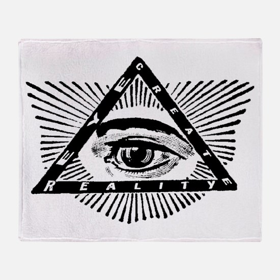 Funny Illuminati Throw Blanket