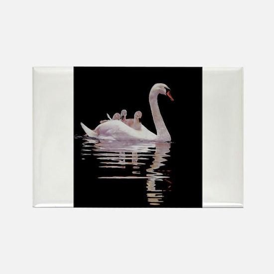 Unique Swan Rectangle Magnet