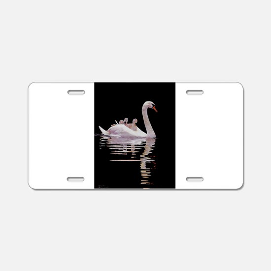Cute Swan Aluminum License Plate