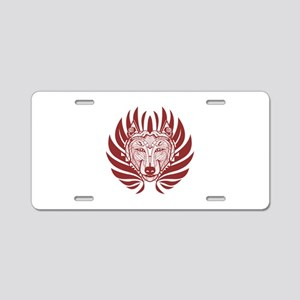FROM THE RED Aluminum License Plate