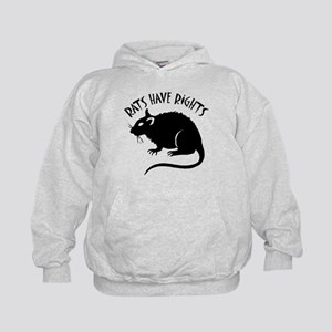 """""""Rats Have Rights"""" Kids Hoodie"""