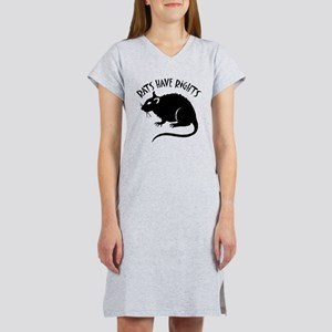 """Rats Have Rights"" Women's Nightshirt"