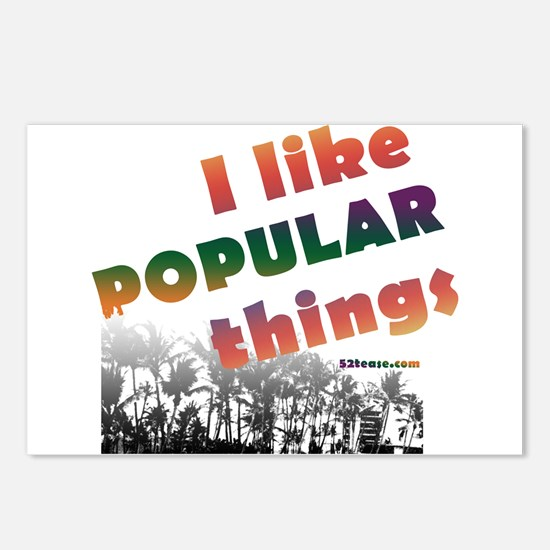 I Like Popular Things Sarcastic Postcards (Package