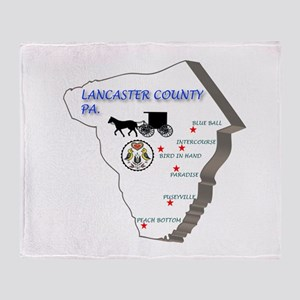 Lancaster County Pa. Throw Blanket