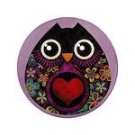 "Owl's Hatch 3.5"" Button"