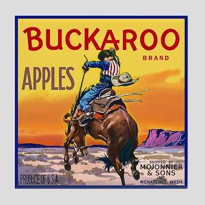 Buckaroo Apples Tile Coaster