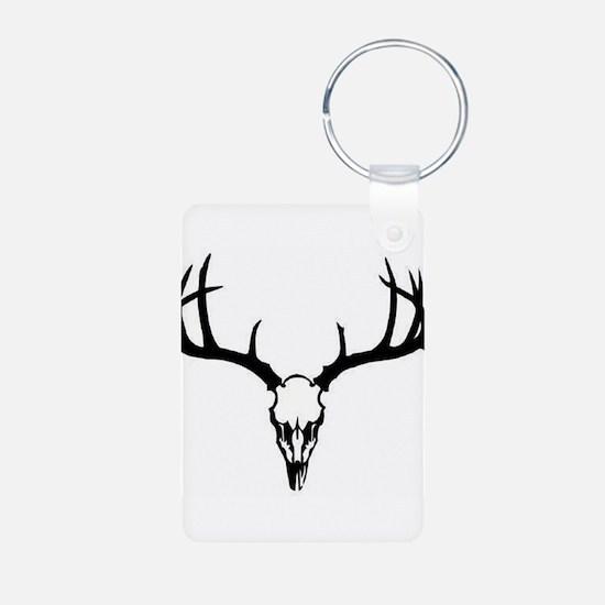 Funny Deer hunting Aluminum Photo Keychain
