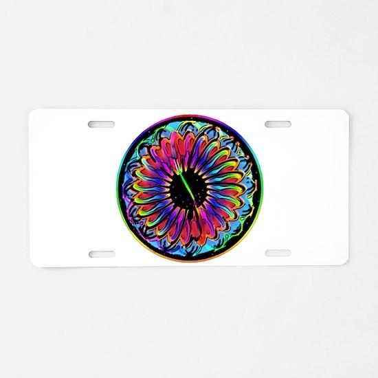 Sumi Style Mandala Aluminum License Plate