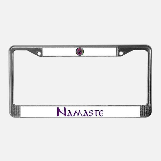 Sumi Style Mandala License Plate Frame
