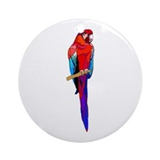 Scarlet Macaw Ornament (Round)
