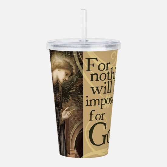 Nothing is Impossible Acrylic Double-wall Tumbler