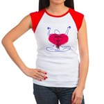Glad Heart Women's Cap Sleeve T-Shirt