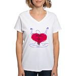Glad Heart Women's V-Neck T-Shirt