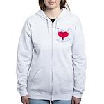 Glad Heart Women's Zip Hoodie