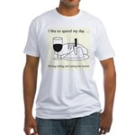 Wining, Loafing, and Cutting the Cheese Fitted T-S