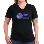 Plastic Hippo Women's V-Neck Dark T-Shirt