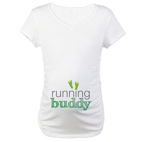 Running Buddy Green Maternity T-Shirt