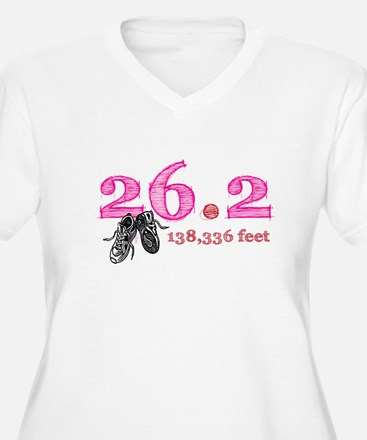 26.2 | 138,336 feet Women's Plus Sz V-Neck T-Shirt