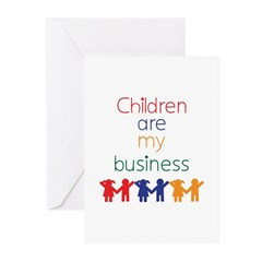 Children are my business Greeting Cards (Pk of 20)