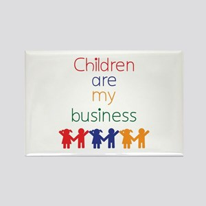 Children are my business Rectangle Magnet