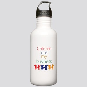 Children are my business Stainless Water Bottle 1.