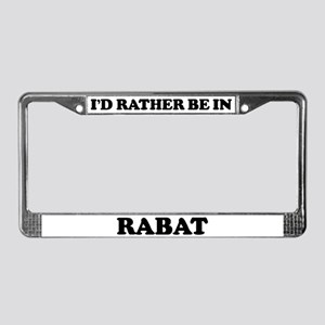 Rather be in Rabat License Plate Frame